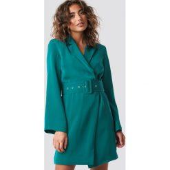 Hannalicious x NA-KD Sukienka-marynarka - Green,Blue. Niebieskie sukienki mini marki Hannalicious x NA-KD, z długim rękawem. Za 283,95 zł.