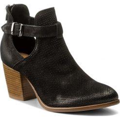 Botki LASOCKI - 1410-05 Czarny. Czarne buty zimowe damskie Lasocki, z nubiku, na obcasie. Za 249,99 zł.