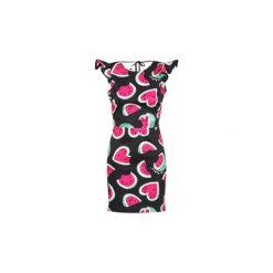 Sukienki krótkie Love Moschino  WVF6500. Sukienki małe czarne marki Love Moschino, z krótkim rękawem. Za 748,30 zł.