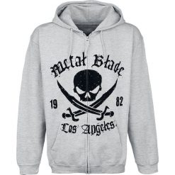 Metal Blade Pirate Logo Bluza z kapturem rozpinana szary. Szare bluzy męskie rozpinane Metal Blade, xl, z napisami, z kapturem. Za 184,90 zł.