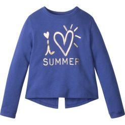 Bluzy dziewczęce: Bluza dresowa bonprix szafirowy