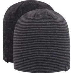 Czapka męska CAM256Z - czarno-szary melanż - 4F. Czarne czapki męskie 4f, na jesień, melanż, z materiału. Za 29,99 zł.