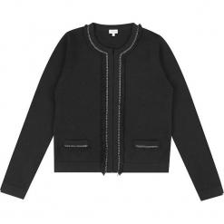 """Kardigan """"Emelie"""" w kolorze czarnym. Czarne kardigany damskie marki Ateliers de la Maille, z aplikacjami, z kaszmiru. W wyprzedaży za 636,95 zł."""