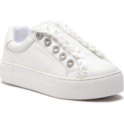 Sneakersy GUESS - FL5MZR LEA12 WHITE. Czarne sneakersy damskie marki Guess, z materiału. Za 629,00 zł.