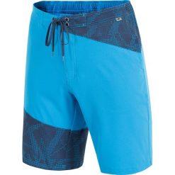 Spodenki plażowe męskie SKMT002 - niebieski jasny. Niebieskie kąpielówki męskie 4f, na lato, z materiału. Za 79,99 zł.