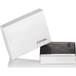 CZARNY PORTFEL MĘSKI ZE SKÓRY ABRUZZO. Czarne portfele męskie marki Abruzzo, ze skóry. Za 49,00 zł.