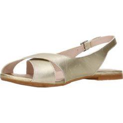 Sandały MOLLY. Brązowe sandały damskie marki Gino Rossi, w paski, ze skóry, na płaskiej podeszwie. Za 179,90 zł.