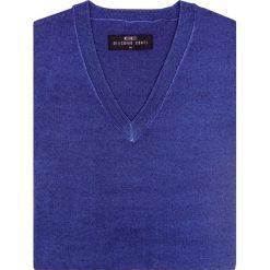 Sweter MARTINO SWNS000097. Niebieskie swetry klasyczne męskie Giacomo Conti, na lato, m, z wełny, dekolt w kształcie v. Za 229,00 zł.
