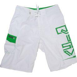 Boardshorty w kolorze biało-zielonym. Niebieskie kąpielówki męskie marki Burton Menswear London. W wyprzedaży za 119,00 zł.