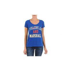 T-shirty z krótkim rękawem Franklin   Marshall  CARLSBAD. Niebieskie t-shirty damskie Franklin Marshall, xs. Za 188,30 zł.