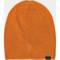 G-Star Raw - Czapka. Pomarańczowe czapki zimowe damskie G-Star RAW, z dzianiny. W wyprzedaży za 99,90 zł.