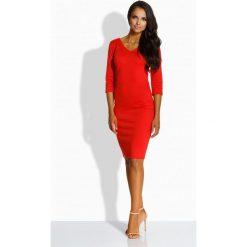 Sukienki: L228 Kobieca dopsowana sukienka [czerwony]