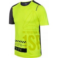 Reebok Koszulka męska One Series Running Short Sleeve ACTIVChill żółto-szara r. S (AX9325). Szare koszulki sportowe męskie Reebok, m. Za 107,98 zł.