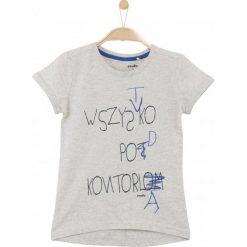 Bluzki dziewczęce z krótkim rękawem: Melanżowa bluzka dla dziewczynki