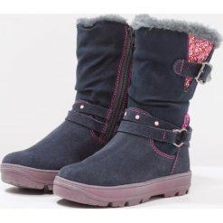S.Oliver RED LABEL Śniegowce navy. Niebieskie buty zimowe damskie marki s.Oliver RED LABEL, z materiału. W wyprzedaży za 223,20 zł.