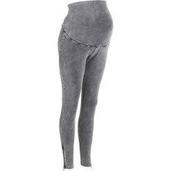 Legginsy ciążowe bonprix szary łupkowy. Szare legginsy ciążowe bonprix, z bawełny. Za 89,99 zł.