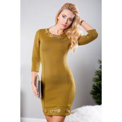 Sukienki hiszpanki: Sukienka mini oliwkowa TA2393