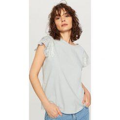 T-shirt z krótkimi rękawami - Niebieski. Białe t-shirty damskie marki Reserved, l, z dzianiny. Za 29,99 zł.