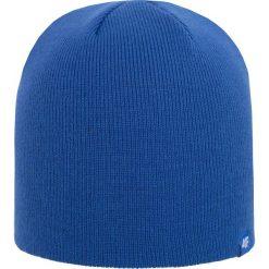 Czapka męska CAM300Z - kobalt - 4F. Niebieskie czapki zimowe męskie 4f, na jesień, z materiału. Za 29,99 zł.