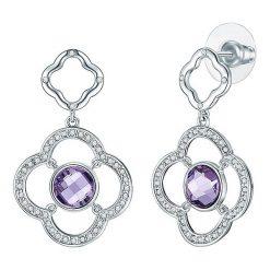 Biżuteria i zegarki: Kolczyki-wkrętki z kryształkami Swarovskiego