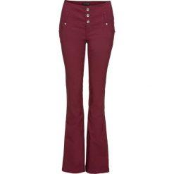 Spodnie z bengaliny ze stretchem bonprix czerwony klonowy. Czerwone spodnie z wysokim stanem bonprix. Za 129,99 zł.