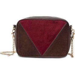 Mała torebka na ramię bonprix brązowo-jeżynowo-oliwkowy. Brązowe torebki klasyczne damskie marki bonprix, z materiału, małe. Za 54,99 zł.