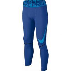 Chinosy chłopięce: Nike Spodnie juniorskie Pro Hyperwarm Tight niebieskie r. XL  (838054)