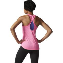 Bluzki damskie: Adidas Koszulka Keyhole Tank różowy r. XS (AJ1052)