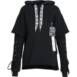 Czarna Bluza Another Life. Czarne bluzy męskie rozpinane marki Born2be, l, z aplikacjami, z dresówki. Za 104,99 zł.