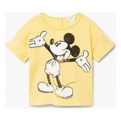 Odzież chłopięca: Mango Kids – T-shirt dziecięcy Mickey 80-104 cm