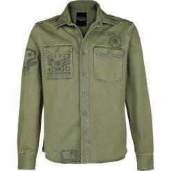 Rock Rebel by EMP Devils And Dust Koszula khaki. Białe koszule męskie na spinki marki bonprix, z klasycznym kołnierzykiem, z długim rękawem. Za 224,90 zł.