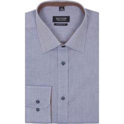 Koszula bexley 2313 długi rękaw custom fit niebieski. Niebieskie koszule męskie jeansowe marki Recman, na lato, m, z klasycznym kołnierzykiem, z długim rękawem. Za 99,99 zł.