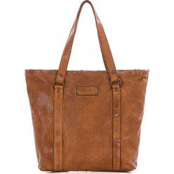 Shopper bag damskie: Shopper bag w kolorze koniaku – 28 x 30 x 12 cm
