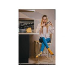 Mysz i ser - kolorowe skarpetki Spox Sox. Brązowe skarpetki męskie marki Spox sox, w kolorowe wzory. Za 20,00 zł.