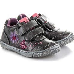 Buciki niemowlęce: American Club Buty dziecięce w kwiatki Umbrella czarne r. 24 (64151)