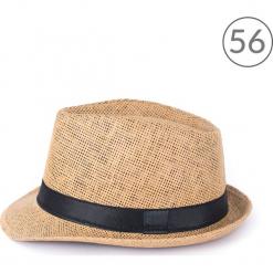 Kapelusz unisex Klasyczny trilby na lato brązowo-czarny r. 56. Brązowe kapelusze damskie marki Art of Polo, na lato. Za 30,84 zł.