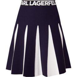 KARL LAGERFELD Spódnica trapezowa peacoat. Niebieskie spódniczki trapezowe KARL LAGERFELD, m, z elastanu. Za 819,00 zł.