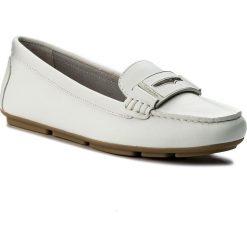 Mokasyny CALVIN KLEIN - Luna E6638  Platinium White. Białe mokasyny damskie marki Calvin Klein, ze skóry. W wyprzedaży za 429,00 zł.