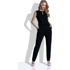 Odzież damska: Czarny Kombinezon z Rozcięciem na Plecach