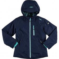 Kurtka narciarska w kolorze granatowym. Niebieskie kurtki dziewczęce przeciwdeszczowe marki CMP Kids, z materiału. W wyprzedaży za 215,95 zł.