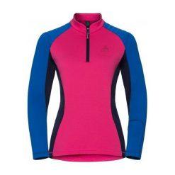 Odlo Bluza damska Midlayer 1/2 zip PACT różowa r. M (527081). Czarne bluzy sportowe damskie marki DOMYOS, z elastanu. Za 209,11 zł.