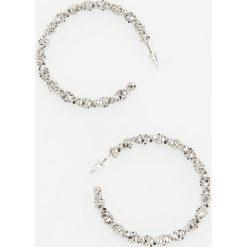 Kolczyki damskie: Okrągłe kolczyki – Srebrny