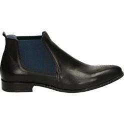 Botki męskie - 702E PEL NERO. Czarne buty zimowe męskie Venezia, z gumy. Za 199,00 zł.