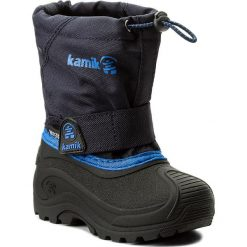 Buty zimowe chłopięce: Śniegowce KAMIK – Pioneer NK8947  Navy
