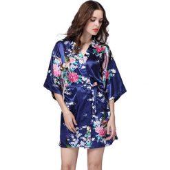 Szlafroki kimona damskie: Szlafrok w kolorze granatowym