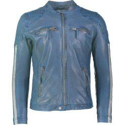 """Kurtki męskie bomber: Skórzana kurtka """"Indi 500"""" w kolorze niebieskim"""