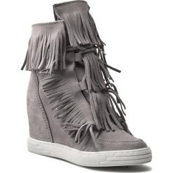 Sneakersy R.POLAŃSKI - 0818  Szary. Czarne botki damskie na obcasie marki R.Polański, ze skóry. W wyprzedaży za 259,00 zł.