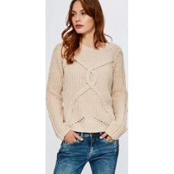Guess Jeans - Sweter. Szare swetry klasyczne damskie Guess Jeans, m, z dzianiny, z okrągłym kołnierzem. Za 399,90 zł.