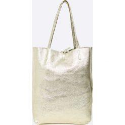 Answear - Torebka skórzana. Szare torebki klasyczne damskie ANSWEAR, z materiału, duże. W wyprzedaży za 169,90 zł.