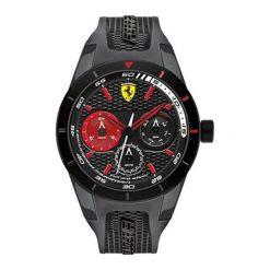 """Zegarek """"SF-0830439-RED-REV-T"""" w kolorze czarnym. Czarne, analogowe zegarki męskie Atlantic, Casio, Nautica, sztuczne. W wyprzedaży za 619,95 zł."""
